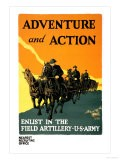Adventure and Action, Enlist in the Field Artillery - Harry S. Mueller