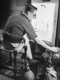 Candido Portinari Painting in His Studio - Hart Preston