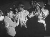 Entertainer Orson Welles Filming the Rio de Janerio Carnival Celebration - Hart Preston