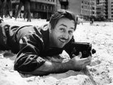 Film Maker Walt Disney Filming on Brazilian Beach - Hart Preston