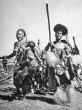 Zulu Natives Dancing in a Ceremony - Hart Preston