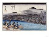 Cool of the Evening at Shijo Riverbed. from the Series 'Famous Places of Kyoto' - Hashiguchi Goyo
