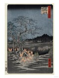 New Year's Eve Foxfires at the Nettle Tree, Oji', from the Series, 'One Hundred Famous Views of Edo - Hashiguchi Goyo