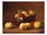 Apples in a Basket on a Table - Henri Fantin-Latour