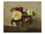 Red and Yellow Roses, 1879 - Henri Fantin-Latour