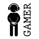 GAMER GAMING Vinyl Wall Art Sticker Decor Decoration Door Sign (REF 251)