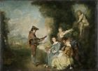 Love Lesson Antoine Watteau 1717 Art Photo/Poster Repro Print Many Sizes  A0/8