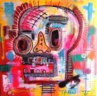 TABLEAU PEINTURE pop street art spedy skull basquiat PyB french painting canvas