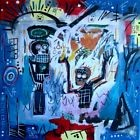 Tableau peinture pop street ART graffiti PyB french painting baptism basquiat