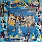 Tableau peinture pop street ART graffiti PyB french painting sign angel basquiat