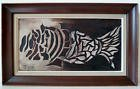 POISSON NATURE MORTE STYLE ART DECO signé MARCHESI CORSE ANNEES 70