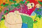 Walasse Ting 'I Think of you' 1976 - FINE ART PRINT, Picasso, Fantasy, japan art