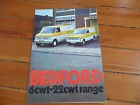 Brochure Prospekt Folder Prospectus 1972 BEDFORD HA CF English Documentation