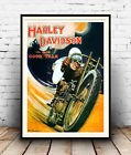 Harley davidson good year, Vintage advert  poster reproduction.
