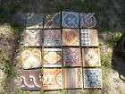 lot de 16 carreaux ciment carrelage patchwork assorti vrais anciens