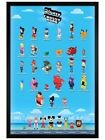 Walt Disney Black Wooden Framed Crossy Road Characters Maxi Poster
