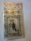 LOT 5 TAMPON ACRYLIQUE CLEAR STAMPS FLEUR OISEAU SCRAPBOOKING CARTERIE