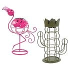 Flamingo or Cactus Novelty Metal Wire Solar Table Lamp