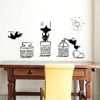 """Walplus Wall Stickers Motivational """"Crows Drinking Water Quote"""" Home Offi... NEW"""