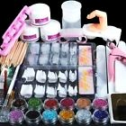 Mode Galerie Kit Manucure Ongles Nail Art Tips Faux Ongles Paillettes Décor Poud