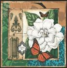 Vignette de Tissu Patchwork Camelia Papillon Cotton Fabric Butterflies & Flower