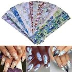 Marbre Gradient Coquille Conception Nail Art Foils Transfer Stickers Décoration