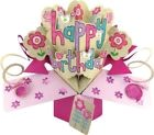 Second Nature Carte d'anniversaire pop-up pour fille Motif Happy Birthday avec f