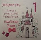 White cotton cards Carte faite main pour 1er anniversaire Inscription Once Upon