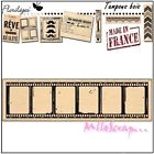 *TAMPON BOIS FLORILEGES DESIGN NEGATIF SCRAPBOOKING CARTE DECORATION*