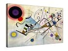 """Wassily Kandinsky; Composition 8 - 30"""" x 20"""" Canvas Wall Art, Ready to hang"""