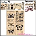 *TAMPON BOIS FLORILEGES DESIGN PAPILLONS SCRAPBOOKING CARTE DECORATION*
