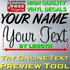 PERSONALIZED CUSTOM TEXT NAME NUMBER VINYL DECAL STICKER CAR WALL WINDOW TRUCK