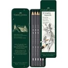 #117805 Faber Castell Tin of 5 Watersoluble Pencils Graphite Aquarelle Artists