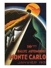 Reproduction d'art 10eme Rallye Automobile Monte Carlo Chambre Décor Poster