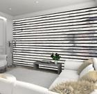 Papier peint Horizontal Wood Panel Wall Mural 315 x 231cm Removable Décor House