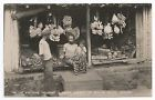 POSTCARD-CEYLON-RP. A Native Boutique, Showing A Great Variety of Ceylon Fruits.
