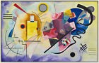 JAUNE ROUGE BLUE by Wassily Kandinsky - Matt, Glossy, Canvas Paper A4 or A3