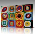 Wassily Kandinsky Concentric Circles Framed LARGE CANVAS Wall Art Picture Print