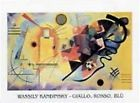 Wassily Kandinsky - Jaune, Rouge, Bleu Poster Reproduction (30x24cm) #35646