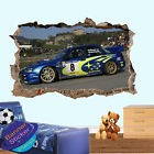 SUPER RALLY RACE CAR ACTION SMASHED WALL STICKER ART ROOM DECOR DECAL MURAL XB1