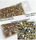200 Strass Cristal 3D Perles Décorations Ongles Nail Art Manucure 1mm OR / JAUNE