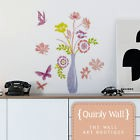 Vase of Flowers Wall Sticker Decal, Removable, Home Wall Decor Mural, Stickers