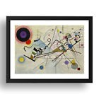 Composition 8 (1923) - Wassily Kandinsky, Vintage Abstract Art, 3x2' Black Frame