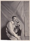 CH440 Photographie anonyme vintage snapshot homme man peintre pipe artiste