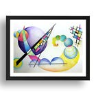 KandinskyWCPencil Painting 14 by Wassily Kandinsky, A3 Black Frame