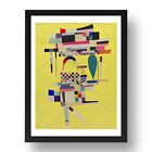 "WASILLY KANDINSKY: YELLOW-PAINTING, 24x17""(A2) Black Wood Frame"