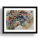 "WASILLY KANDINSKY: PAINTING-WITH-WHITE-BORDER, 24x17""(A2) Black Wood Frame"