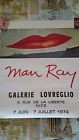 1974 Affiche Exposition Man Ray Signée
