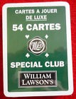 JEU 54 CARTES WILLIAM LAWSON'S