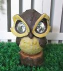Solar Power Owl Animal LED Light Eyes Outdoor Garden Yard Patio Ornament Statue